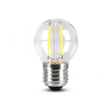 Bombilla de LED 4W E27 G45 SAMSUNG Chip Filamento Transparente