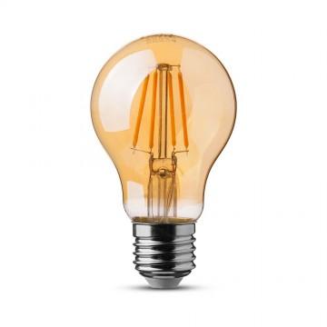 Bombilla de LED SAMSUNG Chip Filamento 6W E27 A60 Ambar