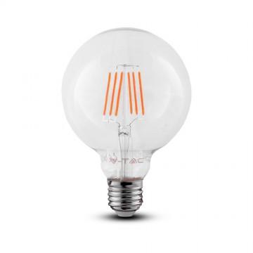 Bombilla de LED SAMSUNG Chip Filamento 6W E27 G95 Transparente