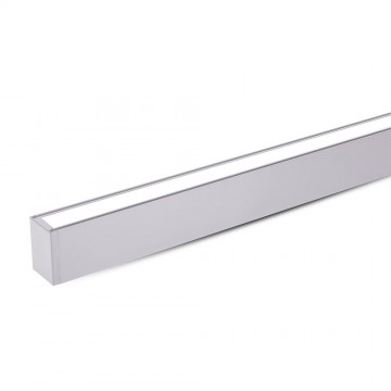 Lampara Colgante Lineal 60W LED - SAMSUNG Chip Color Plateado