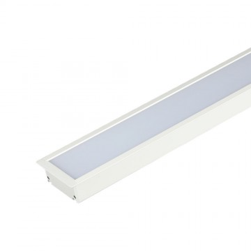 Luminaria Lineal Empotrable 40W LED SAMSUNG Cuerpo Blanco 90mm ancho