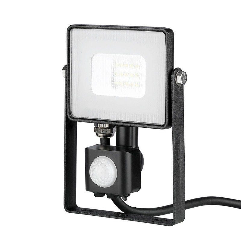 Proyector LED 10W SAMSUNG Chip con sensor Cuerpo Negro VT-10-S-Proyectores LED-buyled.es