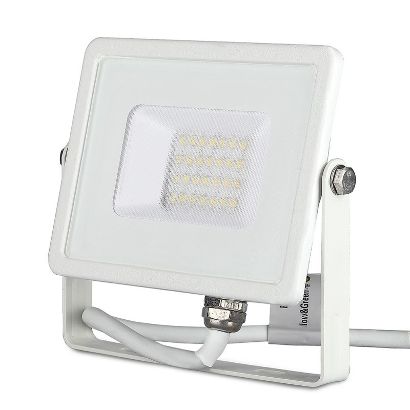 Foco Proyector LED 20W SMD SAMSUNG Chip Cuerpo Blanco VT-20-Proyectores LED-VTAC
