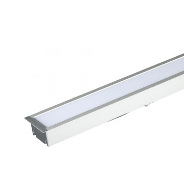 Luminaria Lineal Empotrable 40W LED SAMSUNG Chip Color Blanco