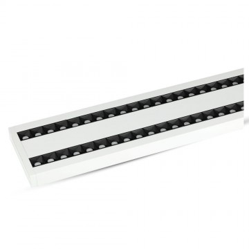 Lampara Colgante Lineal Suspendida 60W LED - SAMSUNG Chip enlazables Cuerpo Blanco