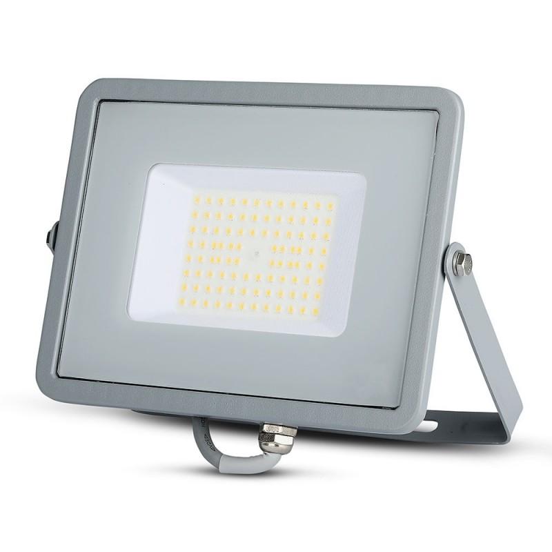 Foco Proyector LED 50W SMD SAMSUNG Chip ultra SLIM Gris 120 lm/W VT-56-Proyectores LED-VTAC