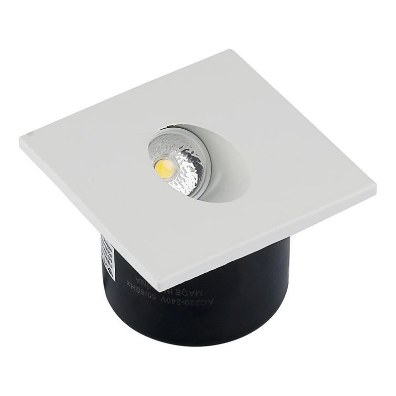 Baliza LED Escalera 3W Cuadrado VT-1109-Iluminación Escaleras-VTAC