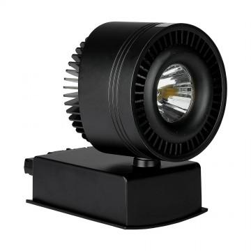 Foco de Carril LED 33W COB CRI95 Cuerpo Negro