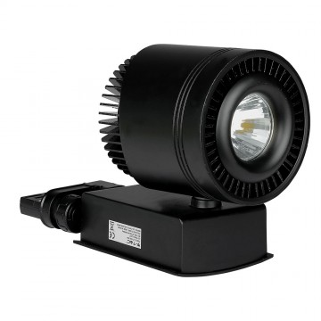 Foco de Carril LED 45W COB CRI95 Cuerpo Negro
