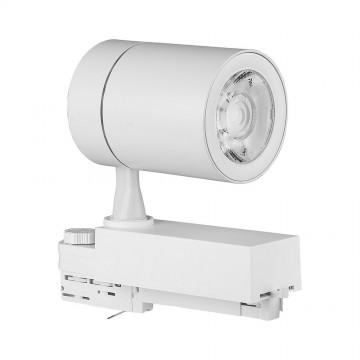 Foco de Carril LED 35W Blanco Cuerpo Blanco