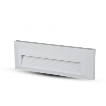 Baliza LED Escalera 3W Cuerpo Blanco Rectangular IP65