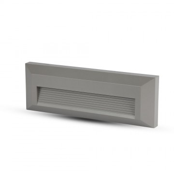 Baliza LED Escalera 3W Cuerpo Gris Rectangular IP65