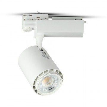 Foco de Carril 18W LED COB Cuerpo Blanco 3 en 1