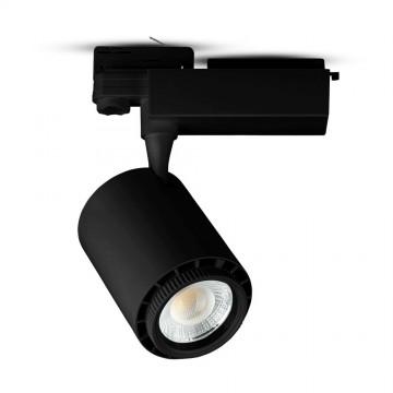 Foco de Carril 18W LED COB Cuerpo Negro 3 en 1