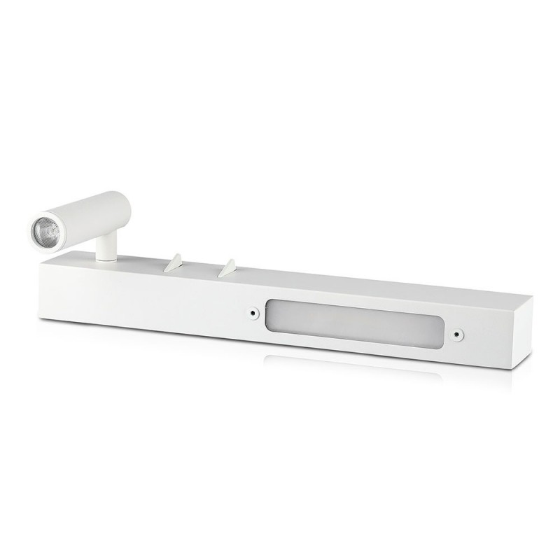 Lámpara de Pared LED Dormitorio 3W+3W LED Cuerpo Blanco VT-2953-Apliques Pared-VTAC