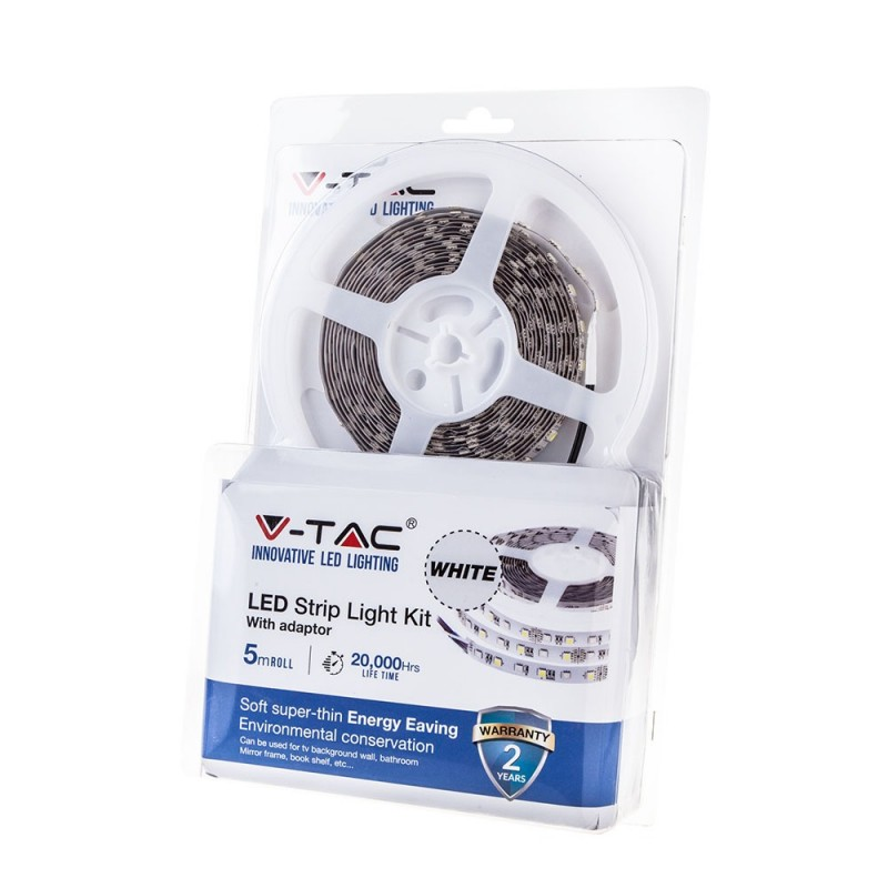 Tira LED KIT SMD5050 60 LED Blanco Impermeable /2148+3008/-Tiras de LED-VTAC