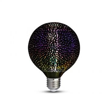 Bombilla de LED 3W E27 Filamento 3D G125