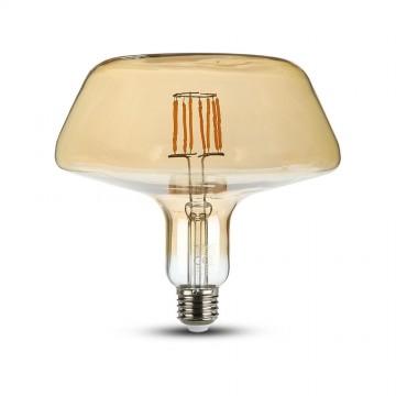 Bombilla de Filamento LED 8W E27 T180 Ambar