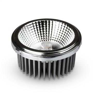 Bombilla de LED AR111 20W Reflector cambiable 40`D/20`D Plateado