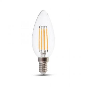 Bombilla LED 4W Filamento Patent E14 Tipo Vela Regulable