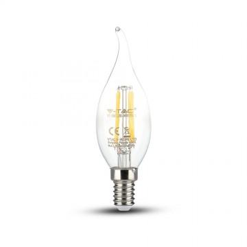Bombilla LED 4W Filamento Patent E14 Tipo Vela llama Regulable