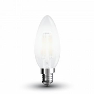 Bombilla LED 4W Filamento E14 Escarcha Tipo Vela