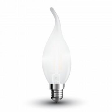 Bombilla LED 4W Filamento E14 Escarcha Tipo Vela llama