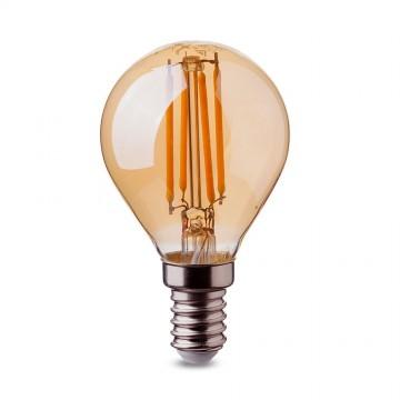 Bombilla LED 4W Filamento E14 P45 Ámbar