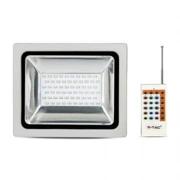 30W LED Proyector SMD RGB con mando a distancia RF Cuerpo Gris