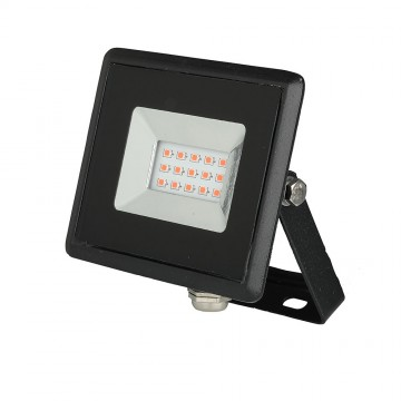 Proyector LED 10W SMD Serie E Cuerpo Negro luz roja IP65