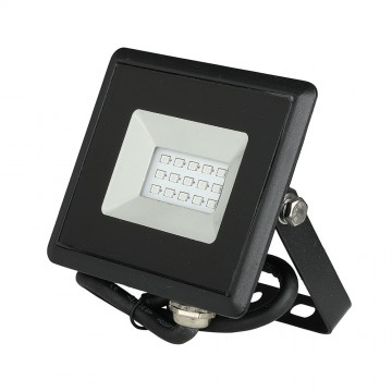 Proyector LED 10W SMD Serie E Cuerpo Negro luz azul IP65