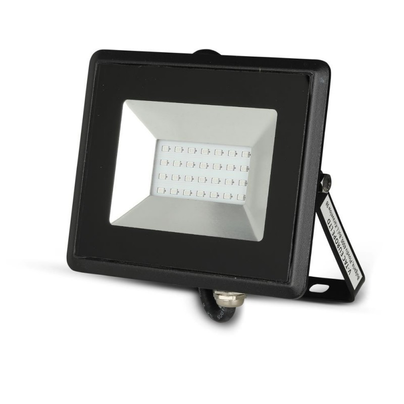 Foco Proyector LED 20W SMD Serie E Cuerpo Negro luz azul IP67 VT-4021A-Proyectores LED-VTAC
