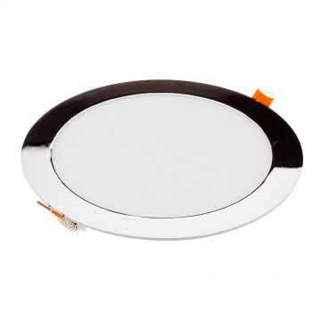 Downlight Slim LED 12W Cromo Superficie