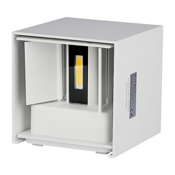6W Lámpara de Pared LED IP65 BRIDGELUX Chip Cuerpo Blanco Cuadrado