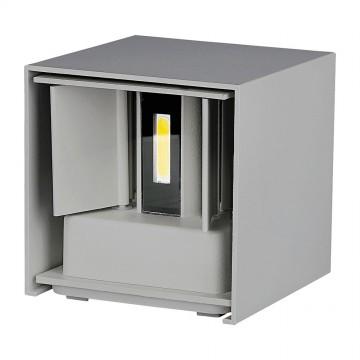 6W Lámpara de Pared LED IP65 BRIDGELUX Chip Cuerpo Gris Cuadrado