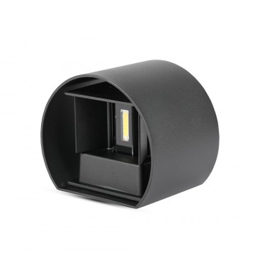 6W Lámpara de Pared LED IP65 BRIDGELUX Chip Cuerpo Negro Redondo