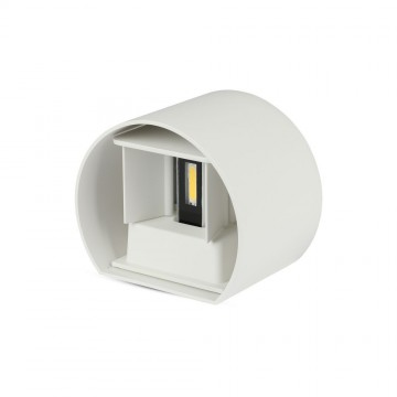 6W Lámpara de Pared LED IP65 BRIDGELUX Chip Cuerpo Blanco Redondo