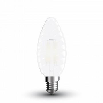 Bombilla LED 4W Filamento E14 Mate Twist Tipo Vela