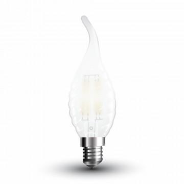 Bombilla LED 4W Filamento E14 Mate Twist Tipo Vela llama