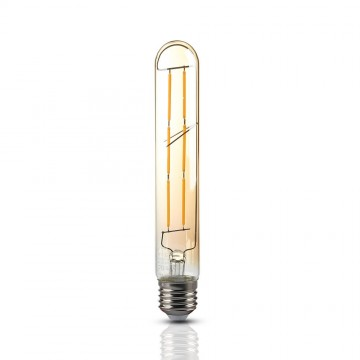 Bombilla LED 6W T30 E27 Filamento Ámbar