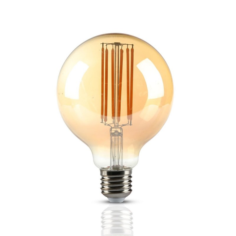 Bombilla LED 7W Vintage Especial Filamento E27 G95 VT-2027-Filamento-VTAC