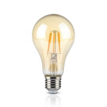 Bombilla LED 10W Filamento E27 A67 Ámbar