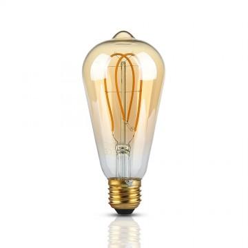Bombilla LED 5W E27 Filamento Oro ST64