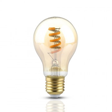 Bombilla LED 4W Filamento E27 Vela Ámbar