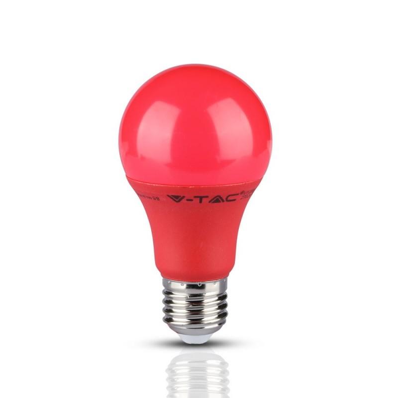 Bombilla LED 9W E27 A60 Rojo VT-2000R-Bombillas LED E27-buyled.es