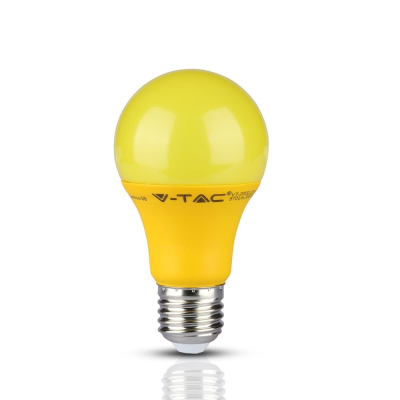 Bombilla LED 9W E27 A60 Amarillo VT-2000A-Bombillas LED E27-buyled.es