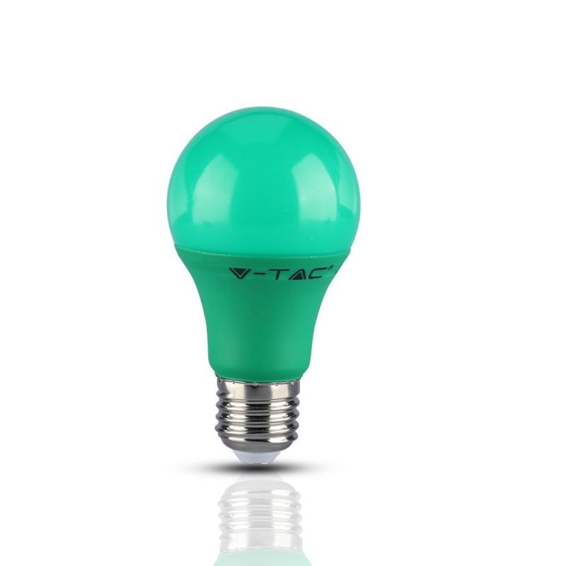 Bombilla LED 9W E27 A60 Verde