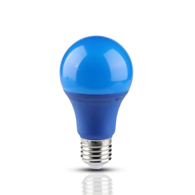 Bombilla LED 9W E27 A60 Azul VT-2000B-Bombillas LED E27-VTAC
