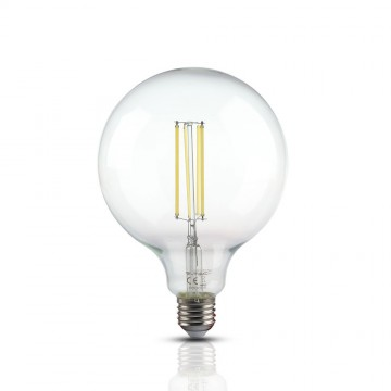 Bombilla de LED 12.5W Filamento E27 G125 Transparente