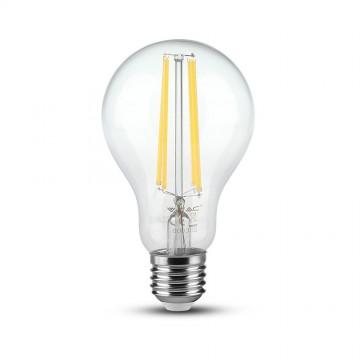 Bombilla de LED 12.5W Filamento E27 A70 Transparente